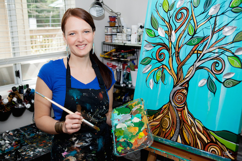 April Lacheur in her studio- Photo credit Varidy Photography