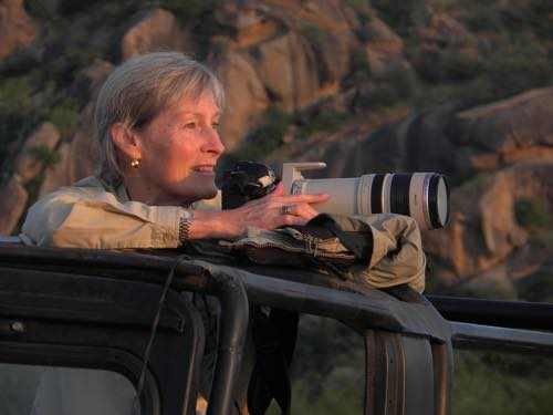 Birgit searching for leopards