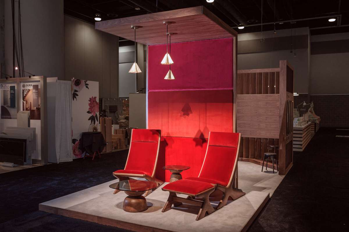 The Orca Lounge Chairs & Ottoman at 2017 IDS-Vancouver in the SwitzerCultCreative Booth